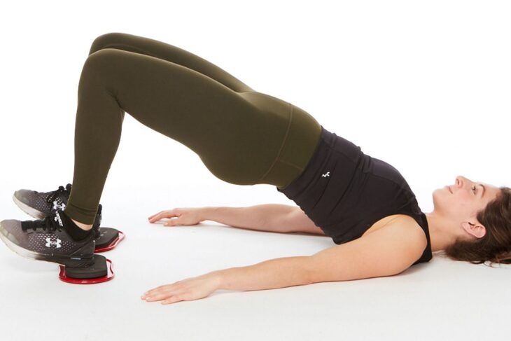 Simple exercises with rubber for a firmer belly, buttocks, and hands